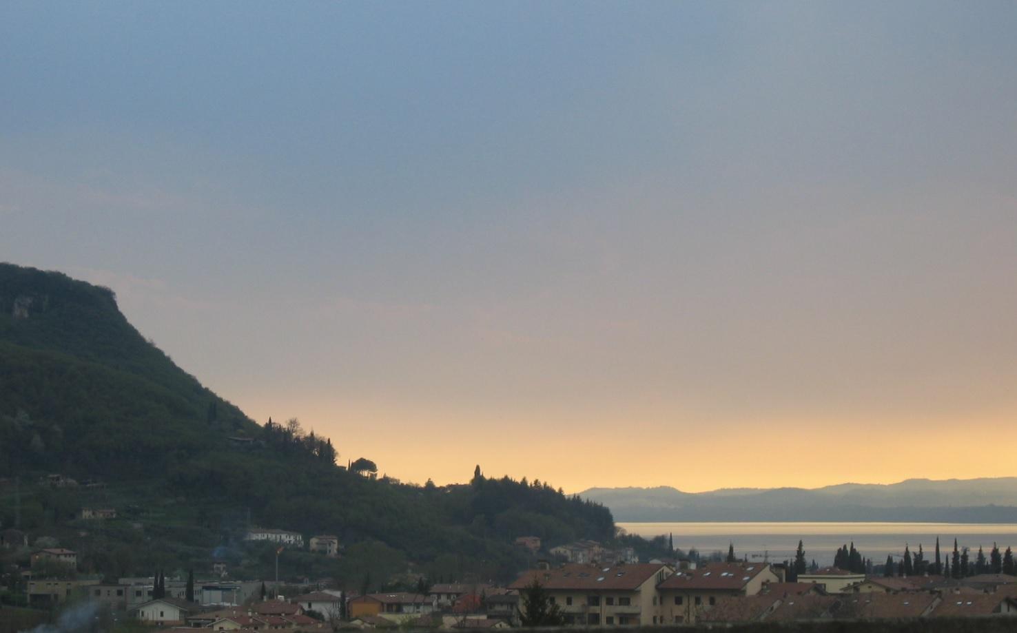Ausblick im benachbarten Garda