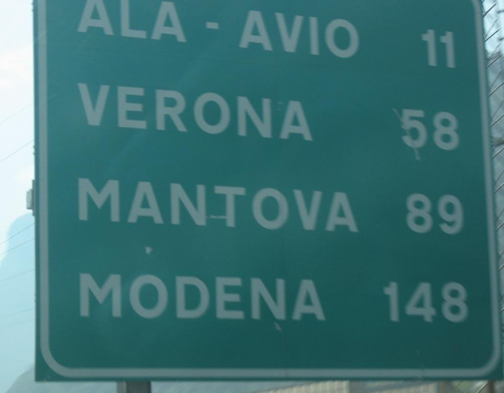 Gardaseeautobahn nach Verona