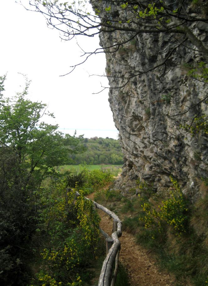 Abstieg vom Rocca di Manerba