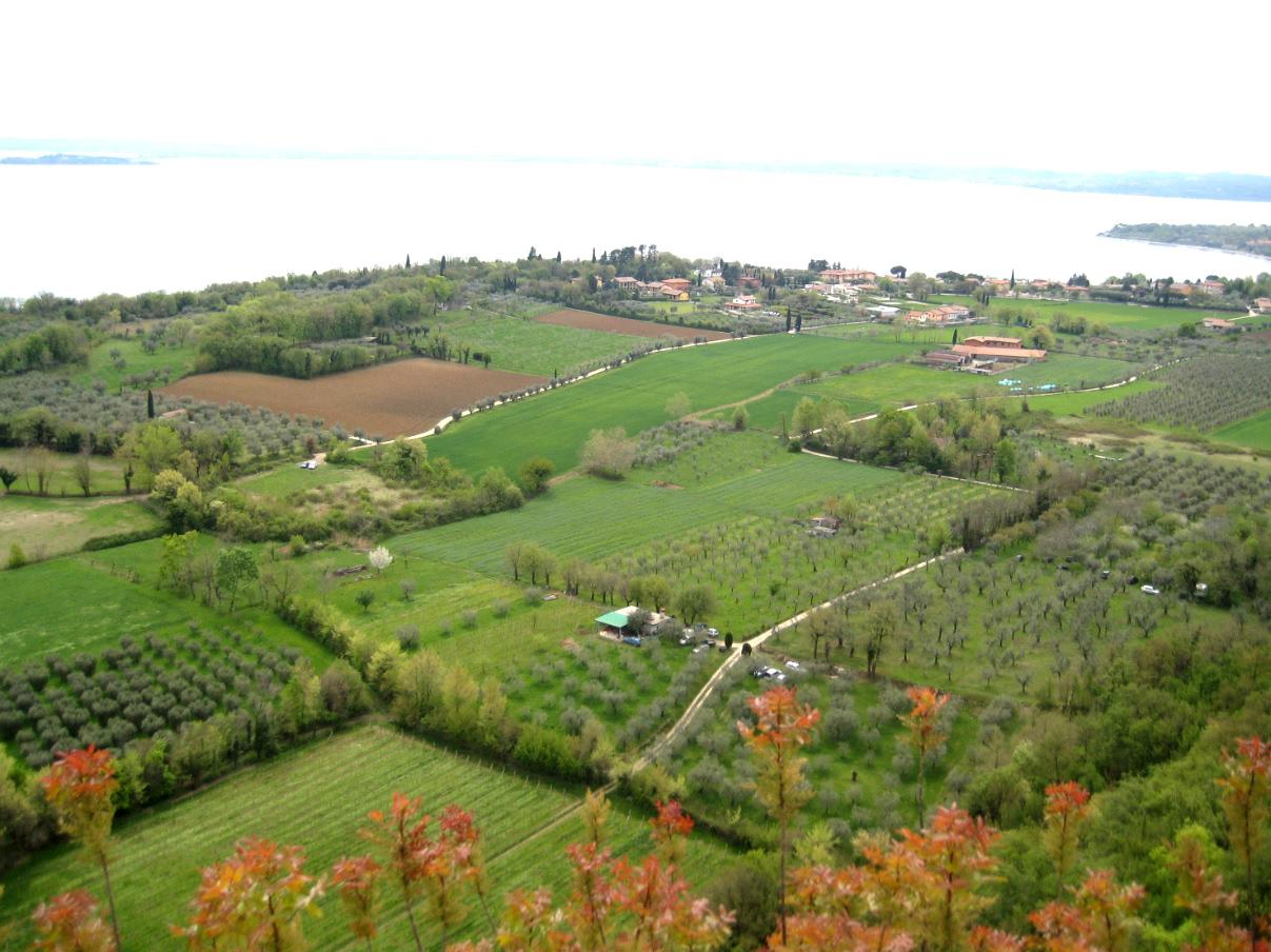 Ausblick vom Rocca di Manerba am Gardasee