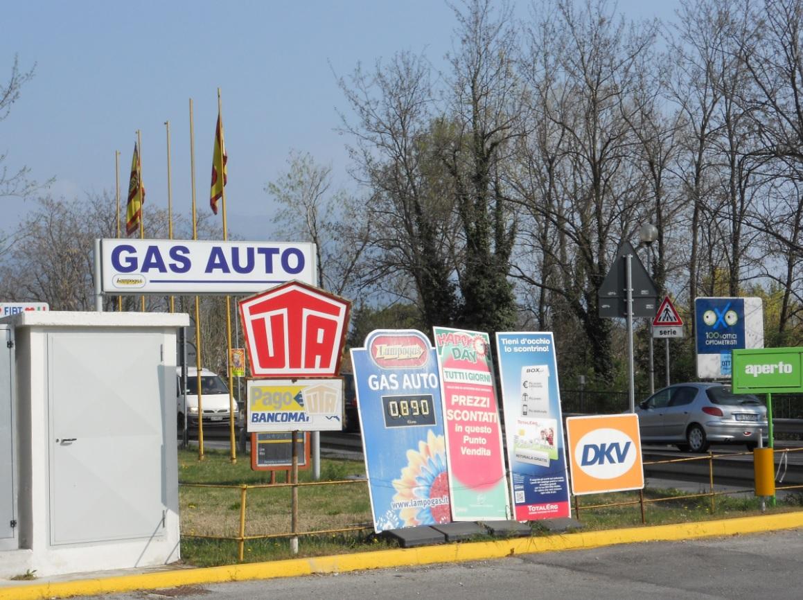 Tankstelle am Gardasee mit LPG