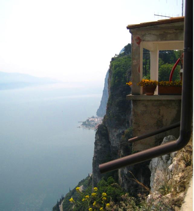 Ausblick in Tremosine am Gardasee