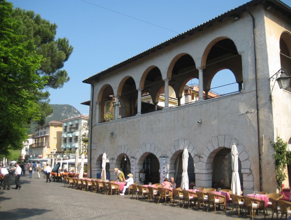 Italienische Pizzeria am Gardasee