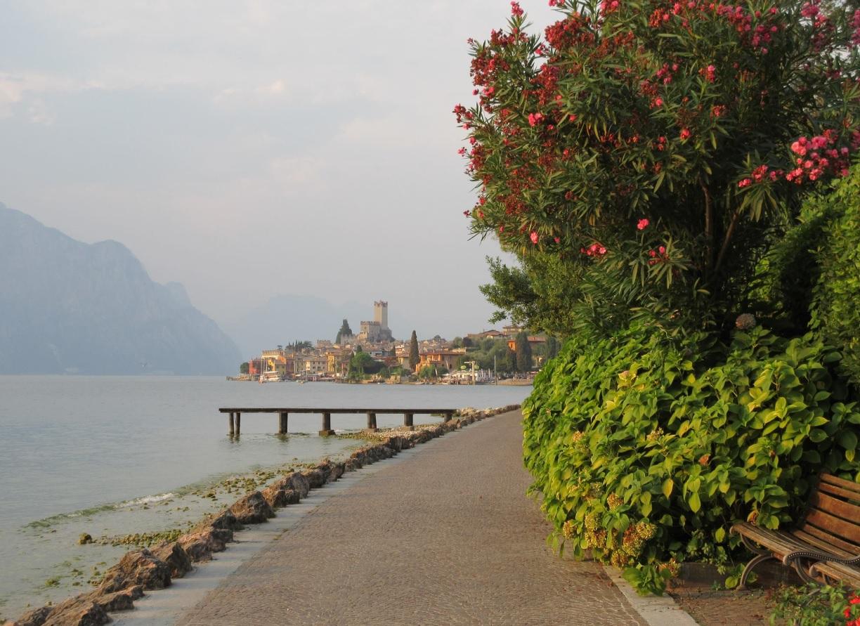Uferpromenade in Malcesine am Gardasee